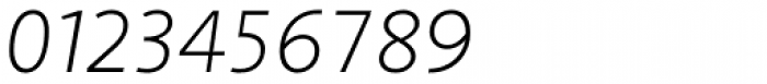 Arventa Sans Pro Thin Italic Font OTHER CHARS