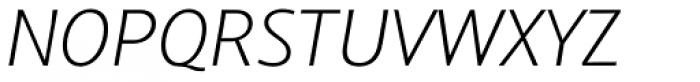 Arventa Sans Pro Thin Italic Font UPPERCASE