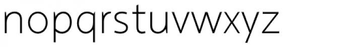 Arventa Sans Pro Thin Font LOWERCASE