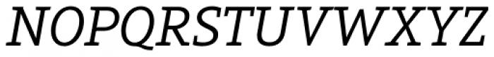 Arventa Slab Pro Italic Font UPPERCASE