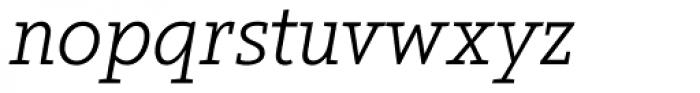 Arventa Slab Pro Light Italic Font LOWERCASE