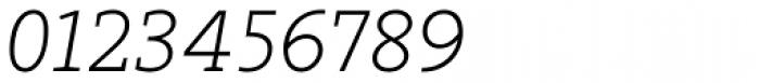Arventa Slab Pro Thin Italic Font OTHER CHARS