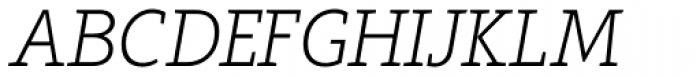 Arventa Slab Pro Thin Italic Font UPPERCASE