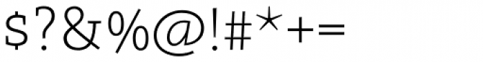 Arventa Slab Pro Thin Font OTHER CHARS