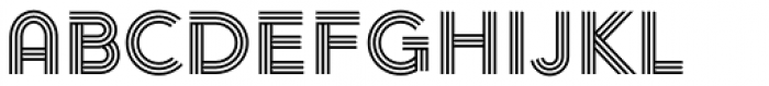 Arya Triple Font LOWERCASE
