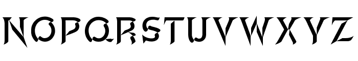 A&S Edoras Chisel Font LOWERCASE