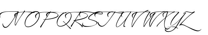 A&S Heartbeat Script swash Font UPPERCASE