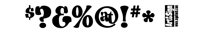 A&S Porkchop Primitive Bold Font OTHER CHARS