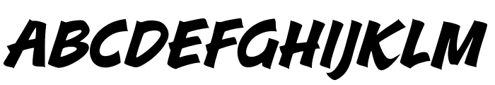 A&S Roadhouse Italic Font LOWERCASE