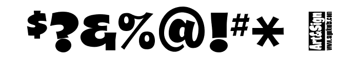 A&S Shocard Block Font OTHER CHARS