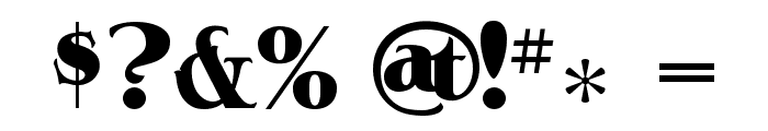 A&SAceHighDeuce Font OTHER CHARS