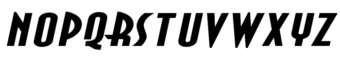 Asia Extended BoldItalic Font UPPERCASE