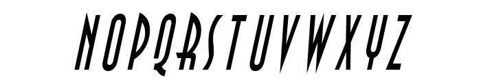 Asia Thin Italic Font UPPERCASE