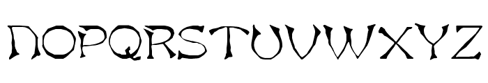 Asian  Normal Font UPPERCASE