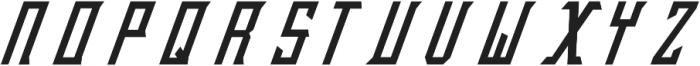 ASD Bravery Italic otf (400) Font UPPERCASE