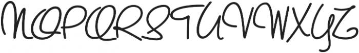ASU Rough Draw Regular otf (400) Font UPPERCASE
