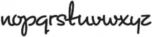 ASU Rough Draw Regular otf (400) Font LOWERCASE