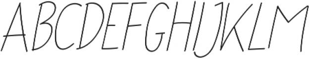 Ascendia Regular ttf (400) Font UPPERCASE
