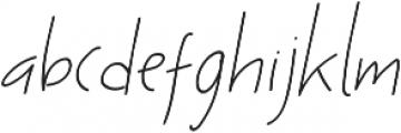 Ascendia Regular ttf (400) Font LOWERCASE