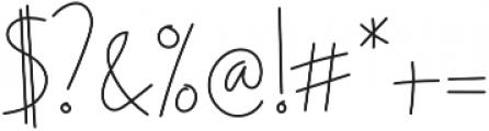 Ascendia otf (400) Font OTHER CHARS