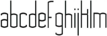 Asche ttf (300) Font LOWERCASE