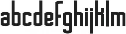 Asche ttf (700) Font LOWERCASE