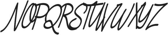 Asfrogas otf (400) Font UPPERCASE