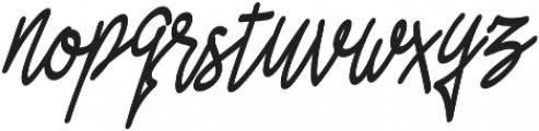 Asfrogas otf (400) Font LOWERCASE