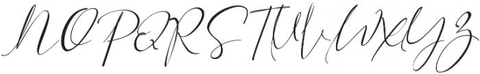 Asgard Slant otf (400) Font UPPERCASE