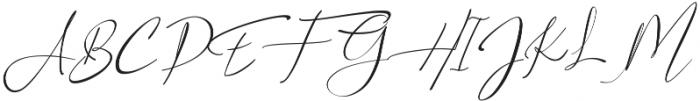 Asgard Slant ttf (400) Font UPPERCASE