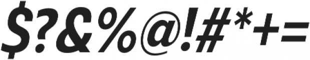 Ashemore Cond Bold Italic otf (700) Font OTHER CHARS