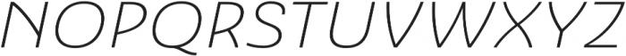 Ashemore Ext Light Italic otf (300) Font UPPERCASE