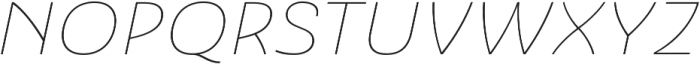 Ashemore Ext Thin Italic otf (100) Font UPPERCASE