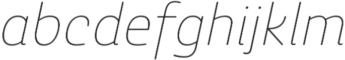 Ashemore Soft Norm Thin Ital otf (100) Font LOWERCASE