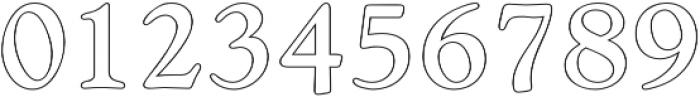 Askery Outline otf (400) Font OTHER CHARS