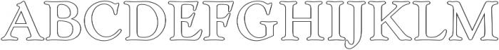 Askery Outline otf (400) Font UPPERCASE