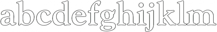 Askery Outline otf (400) Font LOWERCASE
