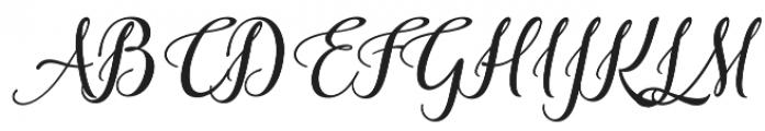 Aslang Barry Regular otf (400) Font UPPERCASE
