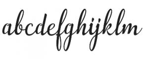 Aslang Barry Regular otf (400) Font LOWERCASE