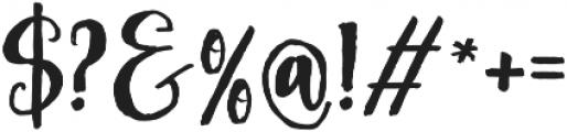 Asly Brush otf (400) Font OTHER CHARS