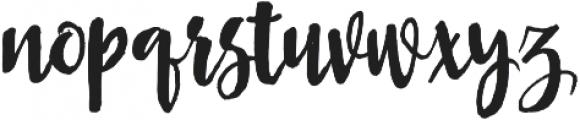Asly Brush otf (400) Font LOWERCASE