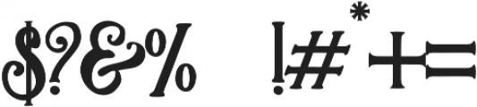 Asmara  Regular otf (400) Font OTHER CHARS