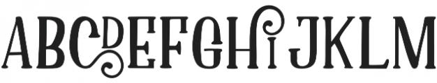 Asmara  Regular otf (400) Font LOWERCASE