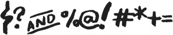 Asphalts Display ttf (400) Font OTHER CHARS