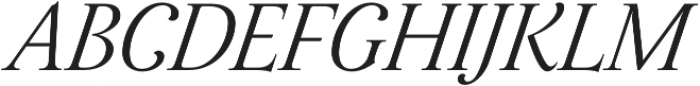 Assemblage Italic otf (400) Font UPPERCASE