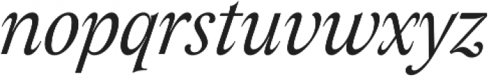 Assemblage Italic otf (400) Font LOWERCASE