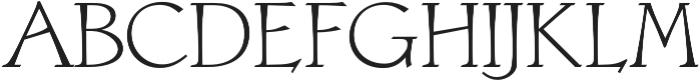 Astaire Pro Regular otf (400) Font UPPERCASE