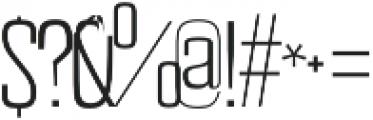 Astana thin otf (100) Font OTHER CHARS