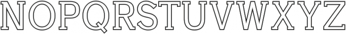 Aster Outline otf (400) Font UPPERCASE