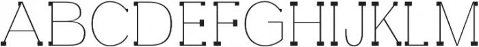 Aster Thin otf (100) Font UPPERCASE